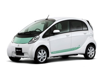 Mitsubishi's i-MiEV, an all-electric four-passenger car