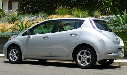 A side view of the Nissan Leaf
