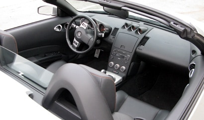 An interior view of a 2008 Nissan 350Z Roadster Touring