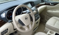 An interior view of a 2013 Nissan Quest