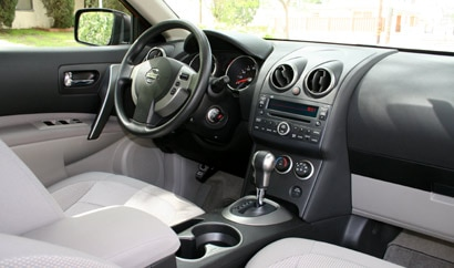 A front interior view of the 2008 Nissan Rogue SL 2WD