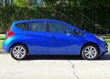 A side view of the 2014 Nissan Versa Note SV