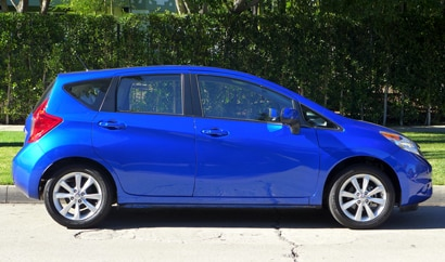 A side view of the 2015 Nissan Versa Note