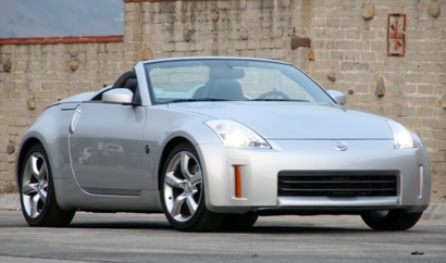A three-quarter front view of a 2008 Nissan 350Z Roadster Touring