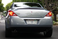 A rear view of a Pontiac G6 GT Convertible