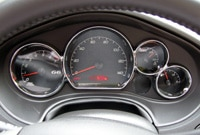 Driving gauges on the Pontiac G6 GT Convertible