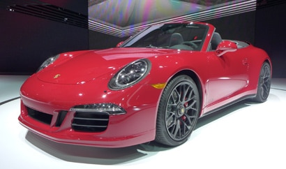 A front view of the Porsche 911 GTS