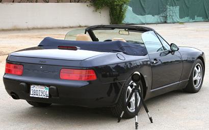 Porsche 968 On a photo shoot
