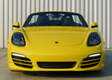 A front view of a 2014 Porsche Boxster, one of GAYOT's Top 10 Convertibles
