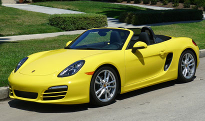 A three-quarter front view of a 2014 Porsche Boxster