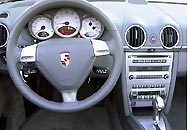 The interior of the Porsche Boxster S