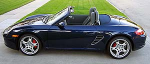 A side view of a Porsche Boxster S