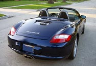 A rear view of the Porsche Boxster S