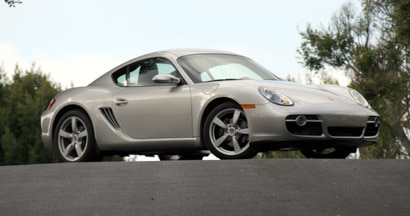 A three-quarter front view of a 2007 Porsche Cayman