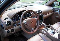 The cockpit of the 2004 Porsche Cayenne Turbo