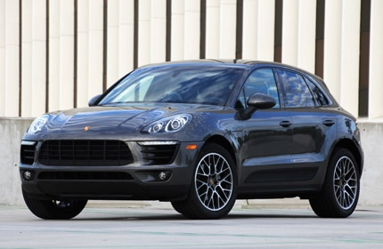 A front view of the 2015 Porsche Macan S