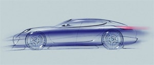 A concept sketch of the Porsche Panamera