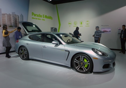 The Porsche Panamera at the 2014 Los Angeles Auto Show