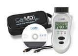 The complete Car MD kit, with handheld device, downloadable software, USB cable and carrying case