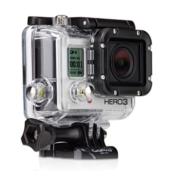 The GoPro Hero camera can be mounted to your car for high-quality action shots