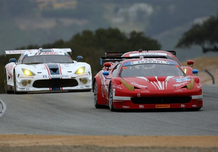 Racing head to head at the 2015 Continental Tire Monterey Grand Prix