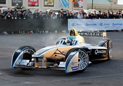Formula E demo in Las Vegas, NV