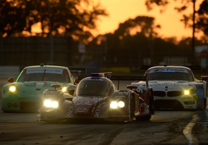 Sunset at the 2014 Twelve Hours of Sebring