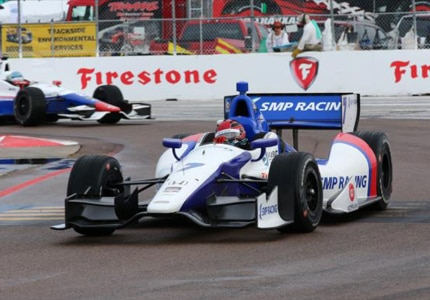 Mikhail Aleshin at the 2014 Firestone Grand Prix of St. Petersburg (Photo credit: Mike Kelley)
