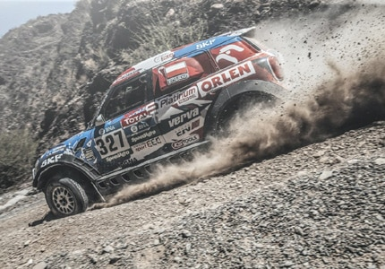 Jakub Przygonski from Orlen X-Raid Team driving a souped-up Mini during stage eight of the Dakar from Salta to Belen, Argentina