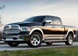 A three-quarter front view of a 2013 Ram 1500