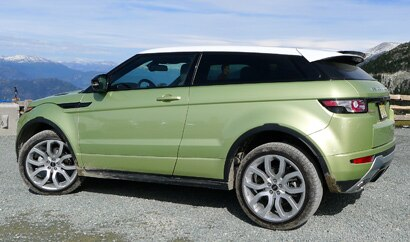 A side view of a 2012 Range Rover Evoque Coupe