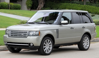 A three-quarter front view of a 2011 Range Rover Supercharged