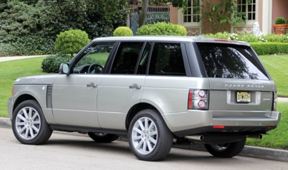 A three-quarter rear view of a 2011 Range Rover Supercharged