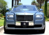 A front view of a 2011 Rolls-Royce Ghost