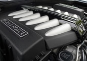 The 6.6-liter direct-injected V12 engine of the 2011 Rolls Royce Ghost