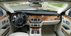 The interior of the 2011 Rolls Royce Ghost