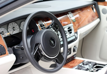 Interior of the 2011 Rolls Royce Ghost