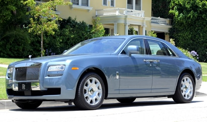 A three-quarter front view of a 2011 Rolls-Royce Ghost