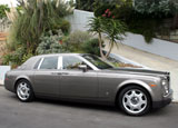 A three-quarter front view of a 2006 Rolls-Royce Phantom, one of our Top 10 Luxury Sedans