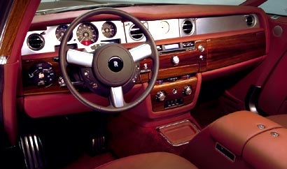 A front interior view of a 2009 Rolls-Royce Phantom Coupé