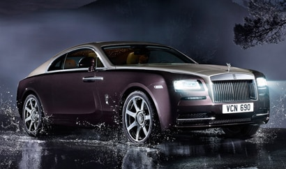 A three-quarter front view of the Rolls-Royce Wraith