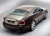 A three-quarter rear view of a 2013 Rolls-Royce Wraith