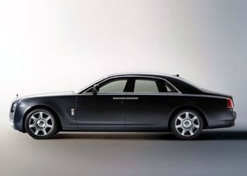 A side view of Rolls-Royce's 200EX concept sedan