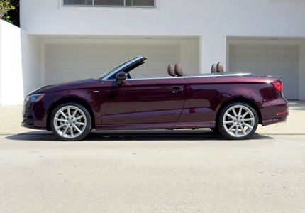 A side view of the Audi A3 Cabriolet 1.8T FWD S tronic