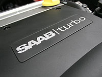 The 2007 Saab 9-3 2.0T SportCombi's engine