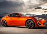 A three-quarter front view of a 2013 Scion FR-S