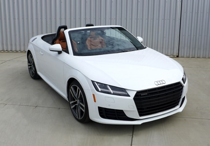 The Audi TT Roadster, one of GAYOT's Top 10 Small Cars