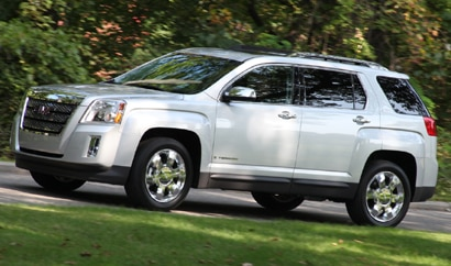 A three-quarter front view of a 2010 GMC Terrain