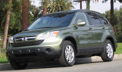 A three-quarter front view of a Honda CR-V EX-L