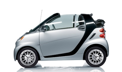 A side view of a 2012 smart fortwo passion cabriolet